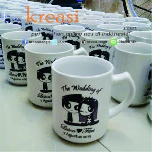 cetak mug untuk souvenir pernikahan