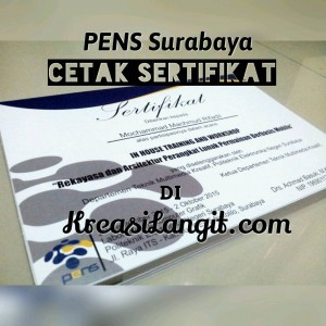 cetak sertifikat PENS